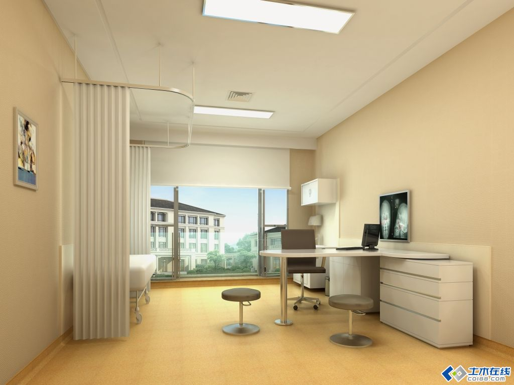 一所精装修医院诊室 病房和护士站效果,征求意见 2