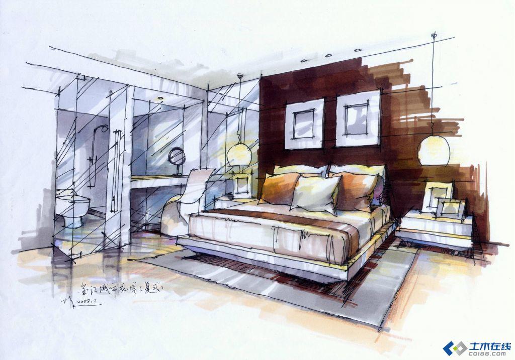 室内设计手绘效果图草图欣赏