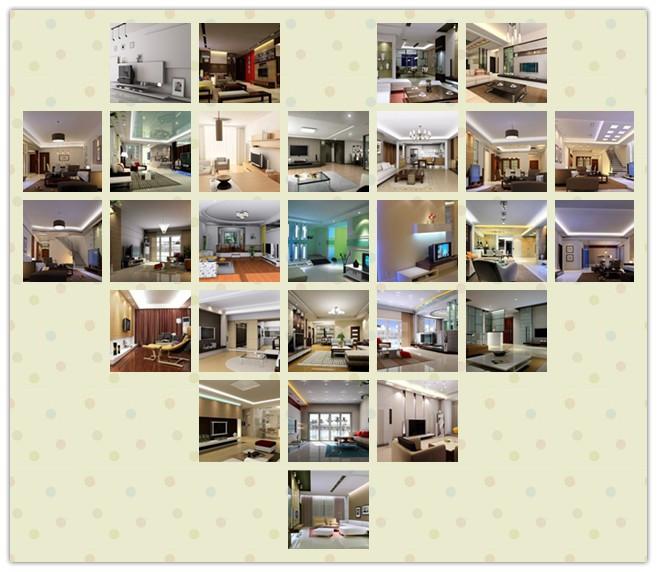 2013最新整理60款客厅及电视墙装修效果图