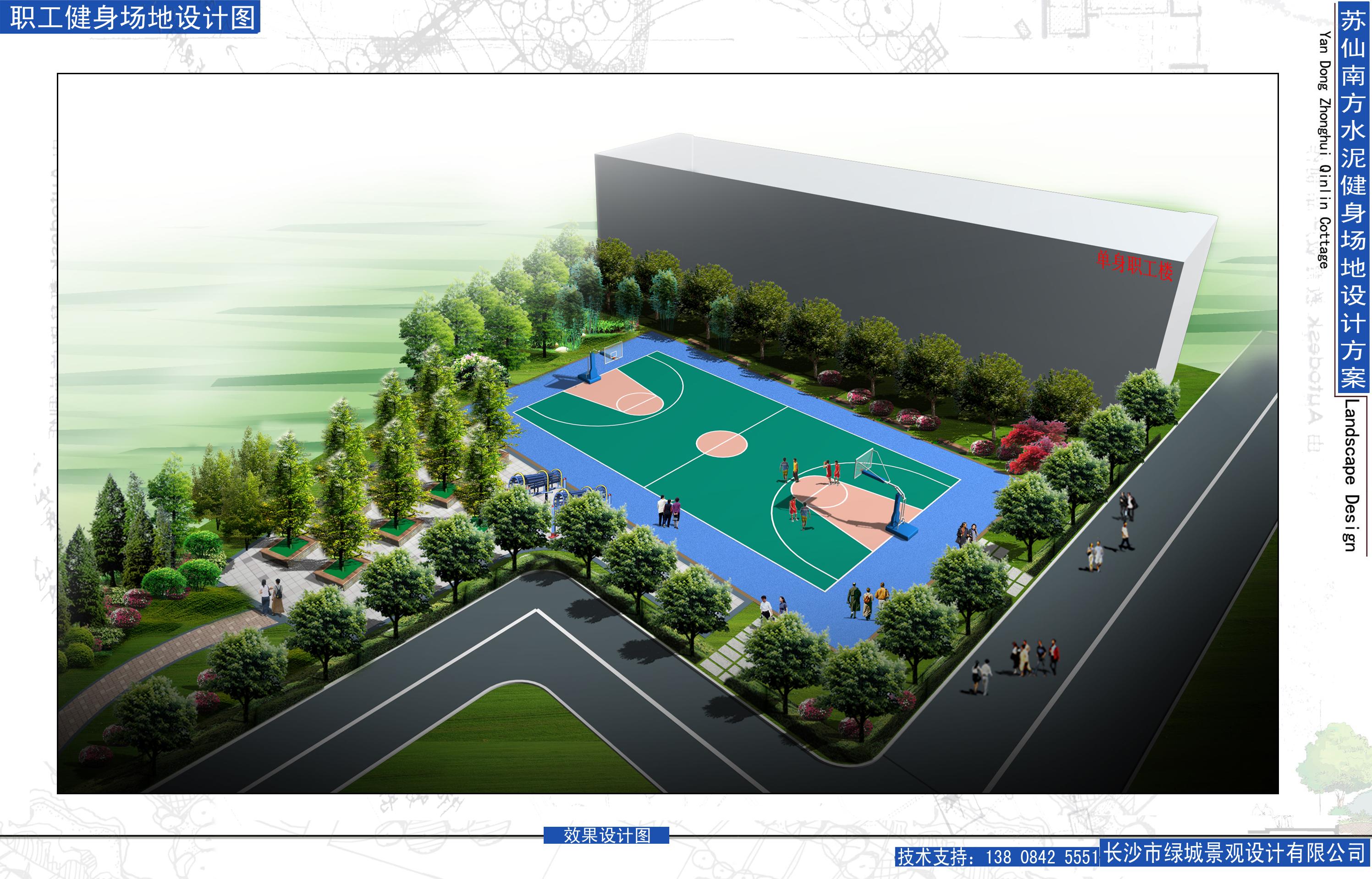 办公小区园林绿化施工图纸带效果图