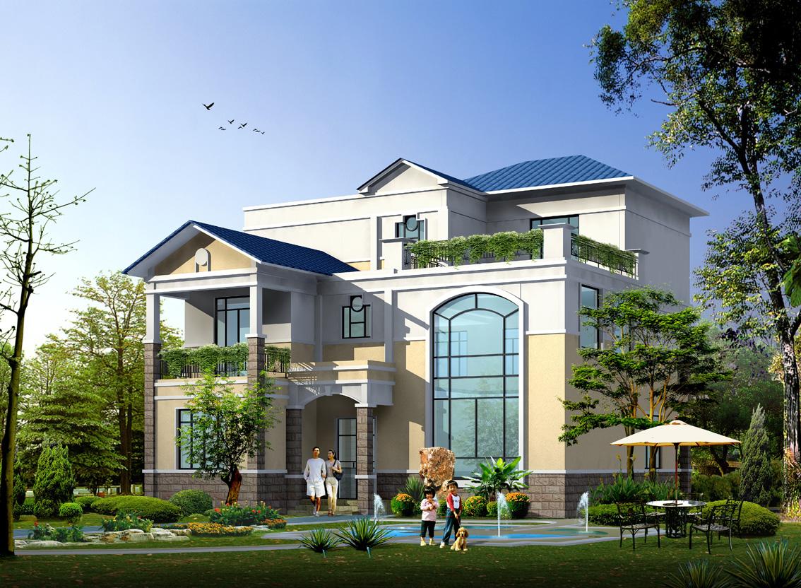 最新二层半别墅图纸带效果图图片http://bbsfile.co188.