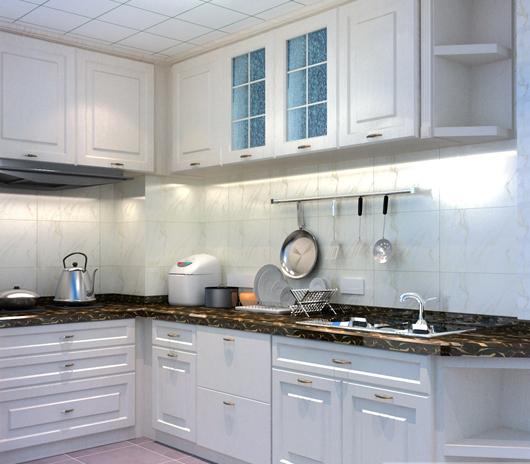 东南亚风格整体橱柜装修效果图   3万打造50平简约厨房橱