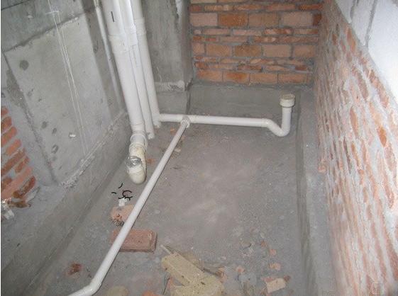 卫生间沉箱给排水管道现场图片