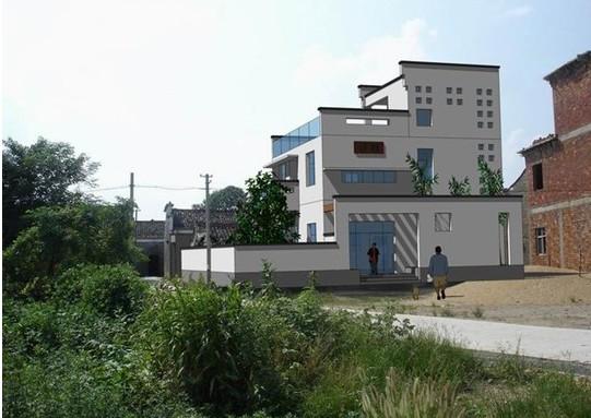 现代中式自建房设计图展示图片