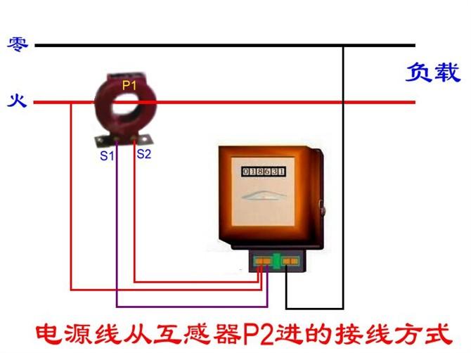 电能表互感器接线方法 分享给大家图片