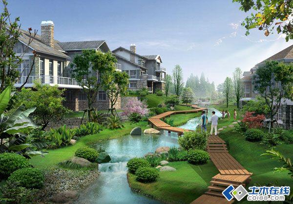 现代欧式滨水别墅