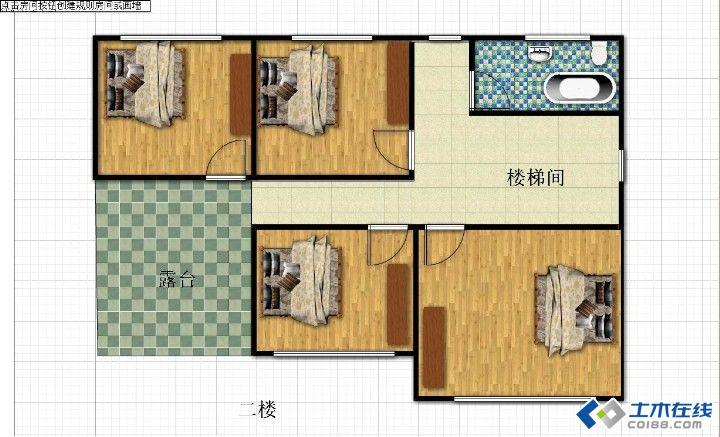 农村三间平房独院设计图展示