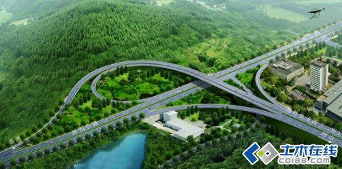 很漂亮的立交桥梁效果图图片
