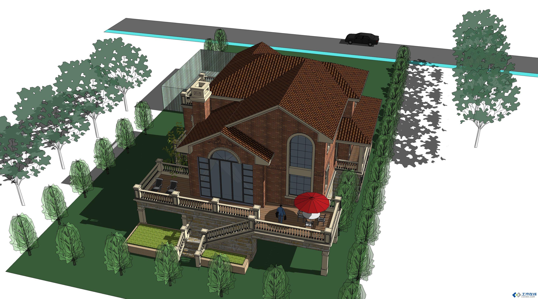 别墅庭院设计效果图
