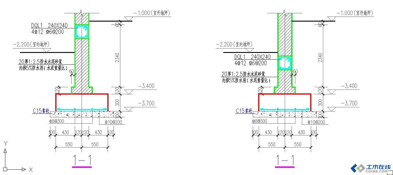 建筑结构    砌体结构   立即查看 多层砖混住宅 半地下室 地圈梁