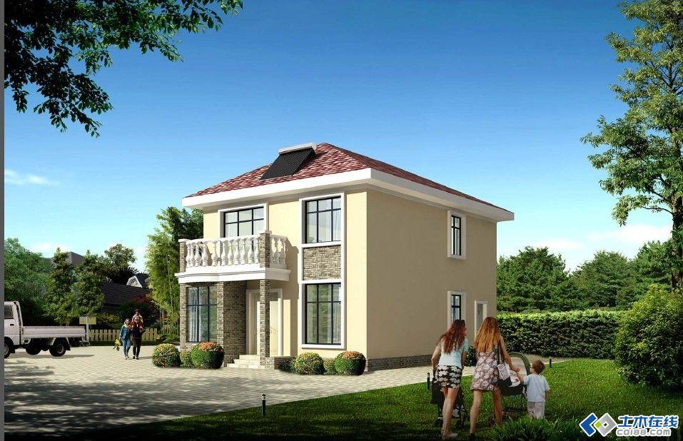 先上网上下的效果图:   农民哥哥要建房子,家在农村,由于本