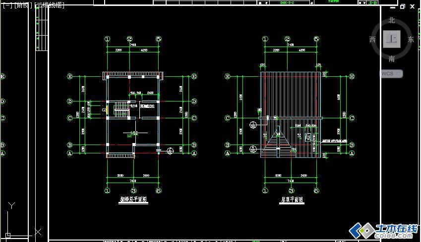 二层框架结构农村房屋设计图包含结构图占地尺