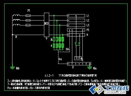 建筑工程防雷接地系统电气图纸