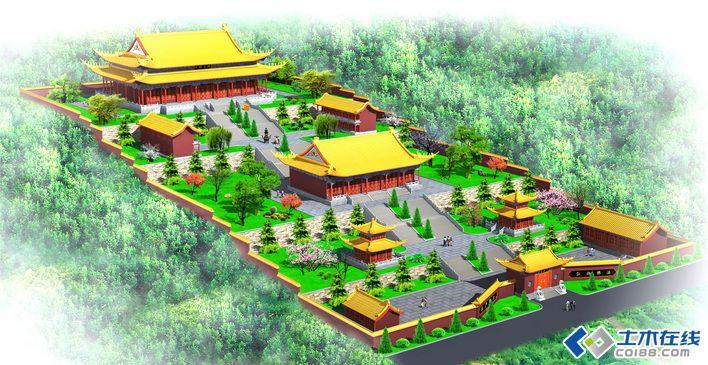 寺庙效果平面图庙宇建筑