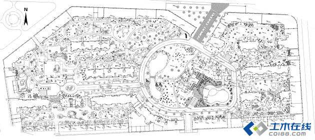 小区地图手绘图案