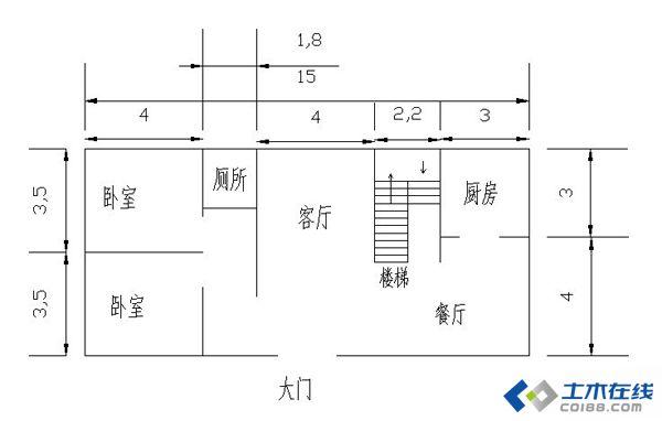 农村自建房13米x10米二层半设计图  二层半带露台双拼农村自建房图纸