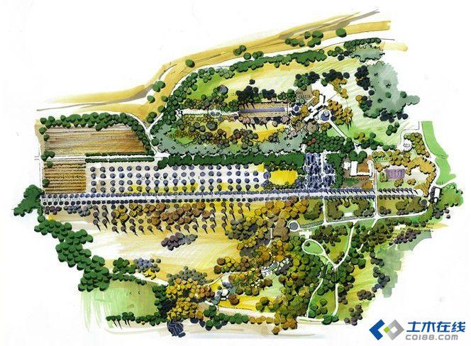 景观 风景园林专业考研相关表现技法浅谈 平面图图片