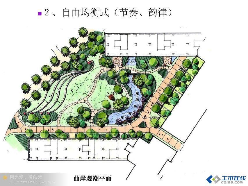 景观平面构图设计方法:规整式