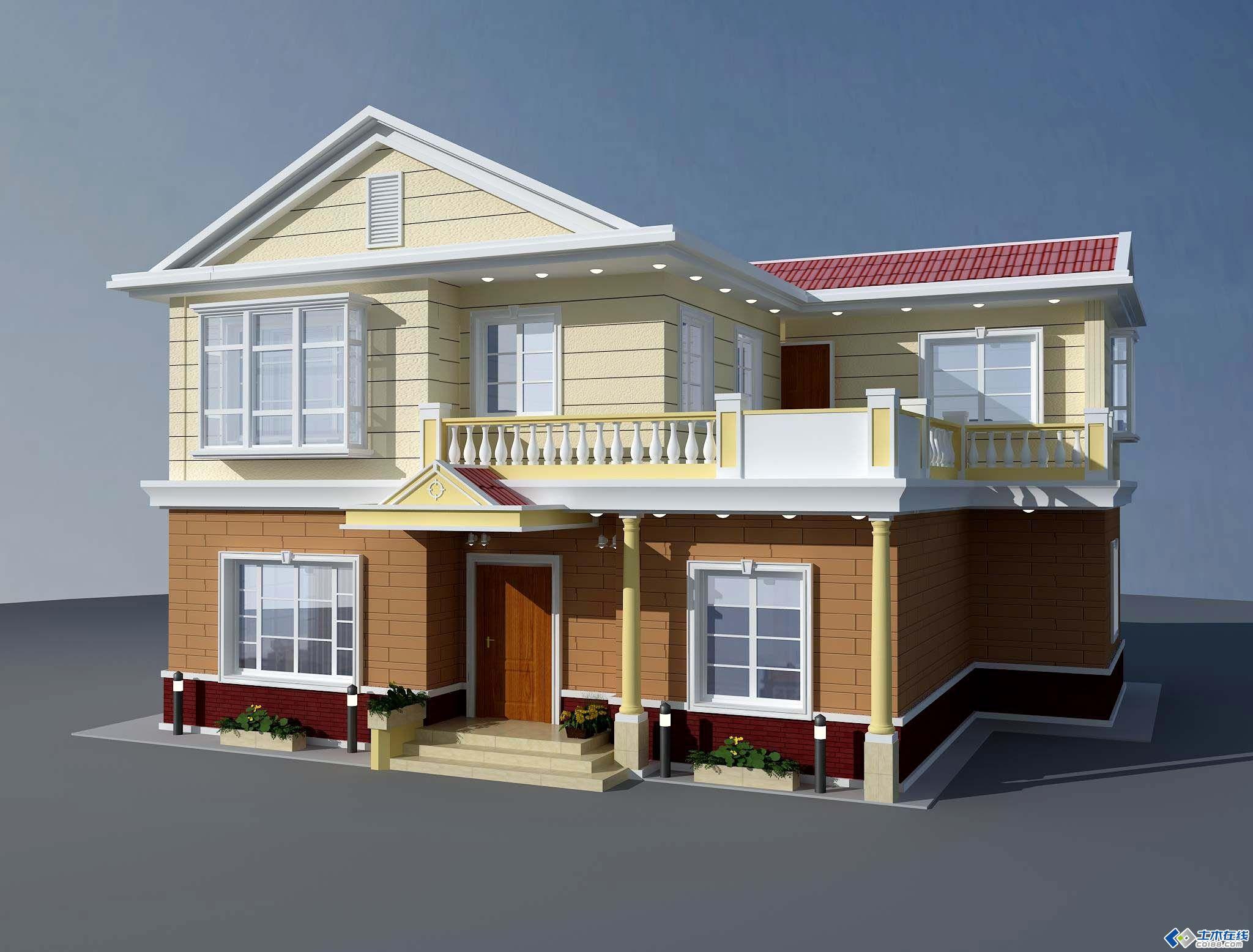 大门查看立即建筑别墅自建两层坡横批小别墅(含效果图)别墅屋面对联农村大全图片