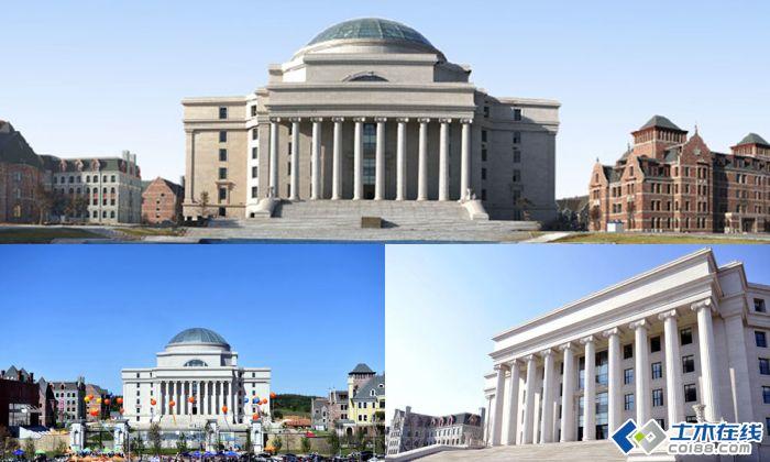 一所名气不大的大学——长春建筑学院,由于图书馆的落成并