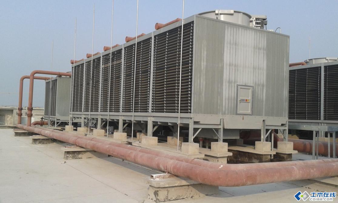 屋面冷却塔,风机安装照片!图片http://bbsfile