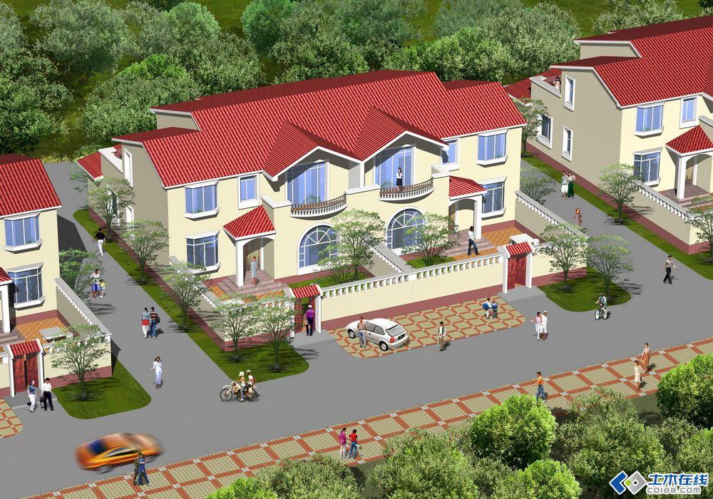 效果图   个人专注于新农村自建房设计,农村住宅中普通平房、