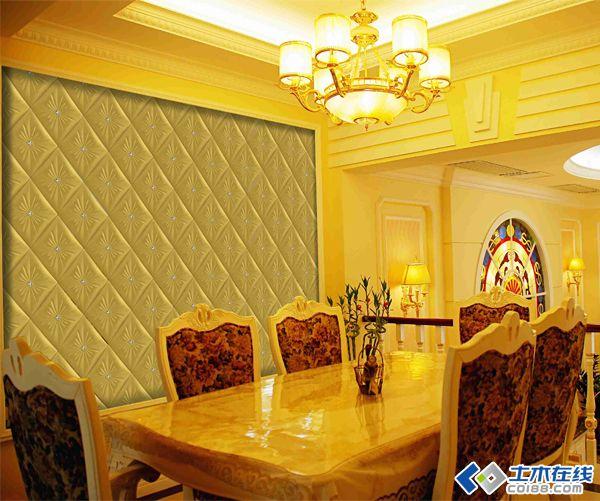 硅藻泥欧式沙发背景墙
