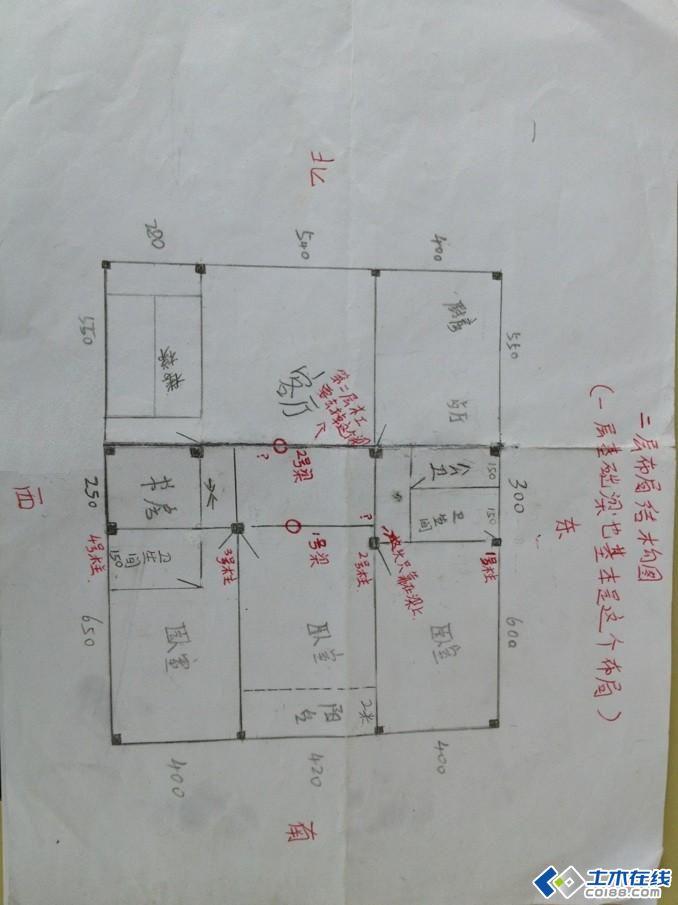 房子柱子结构图