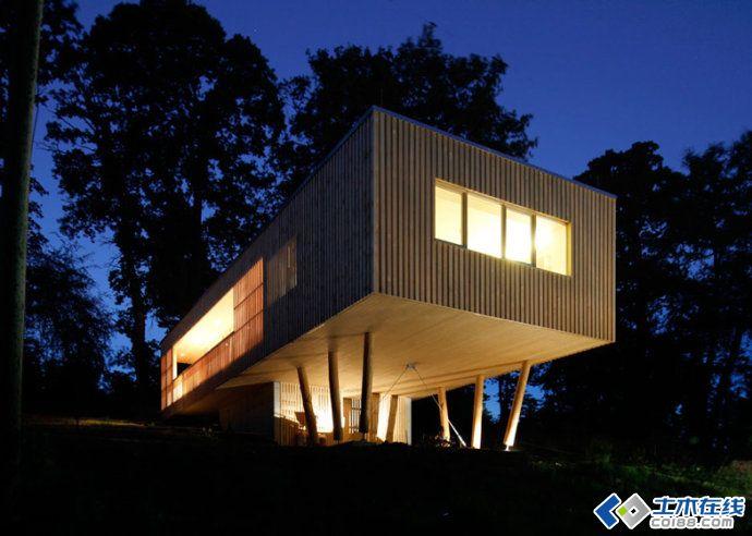 超环保的奥地利木板房建筑