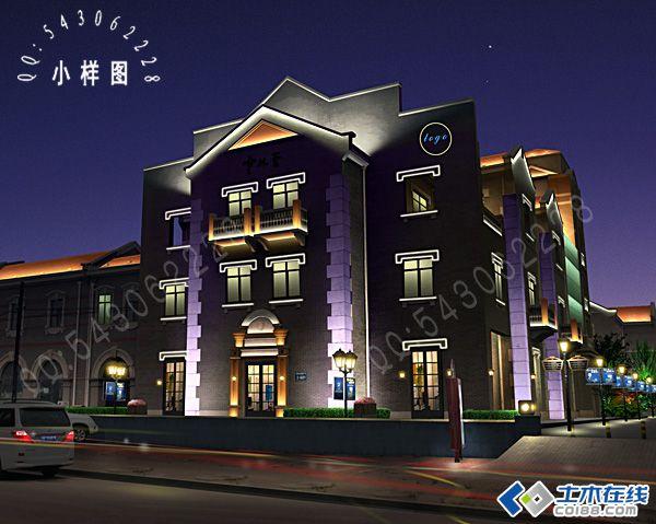 建筑夜景亮化效果图