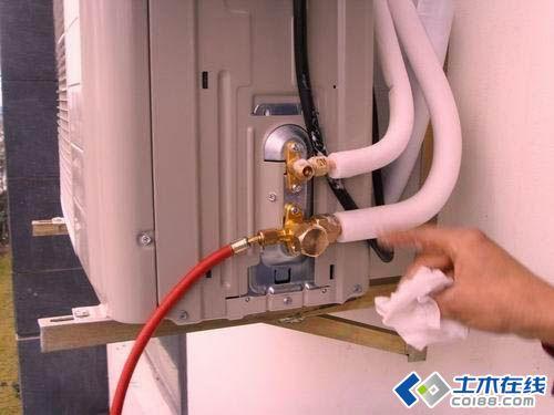 变频空调安装抽真空步骤