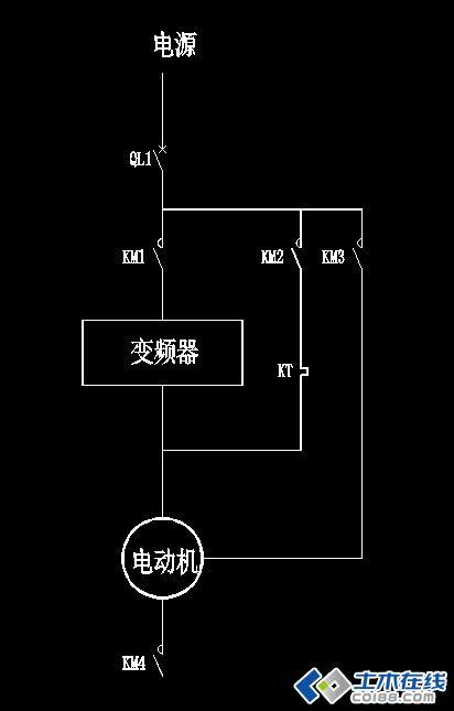 马达星三角延时继电器的接线图