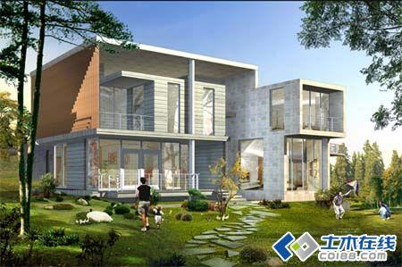 浪漫和山 别墅 建筑平面 立面 方案 效果 实景图