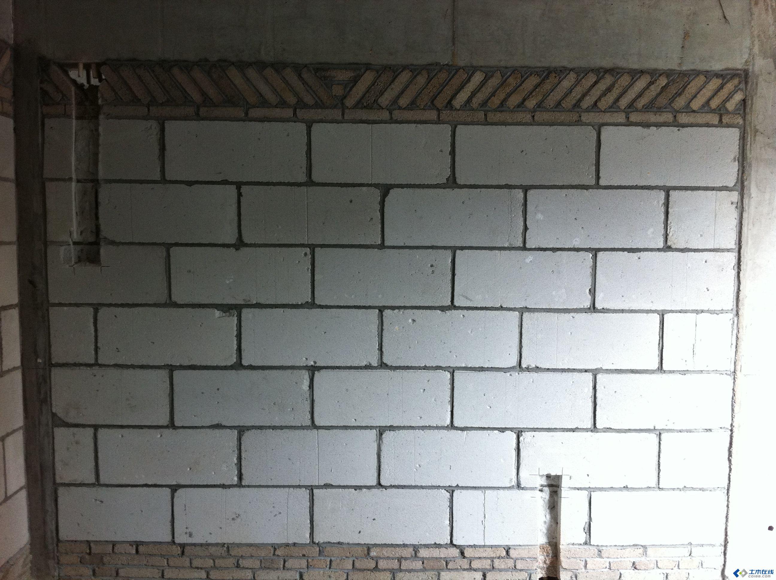 加气混凝土砌块墙体