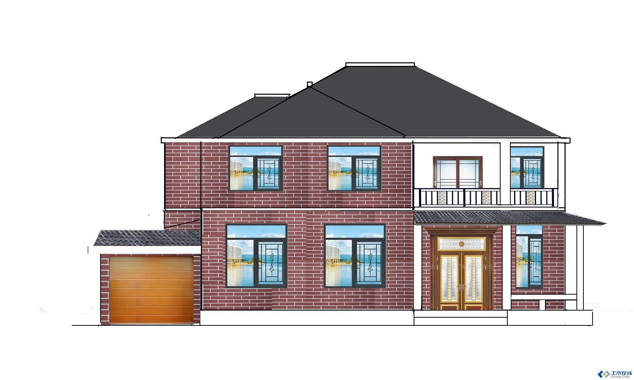 农村两层房子建设图