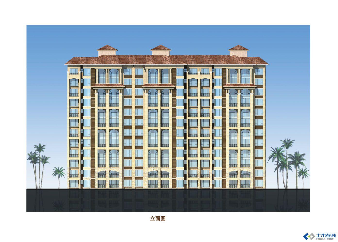 小高层住宅二立面图.jpg 高清图片