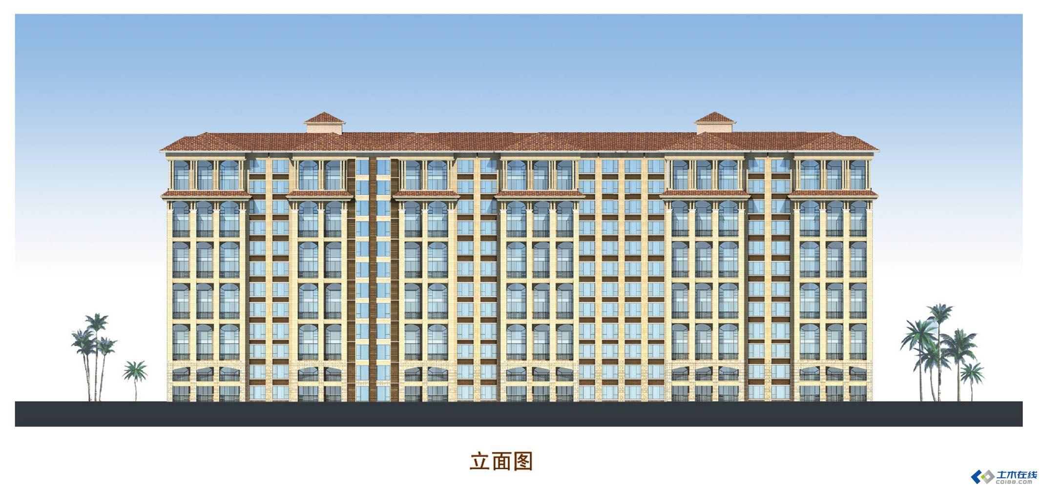 小高层住宅立面图.jpg 高清图片
