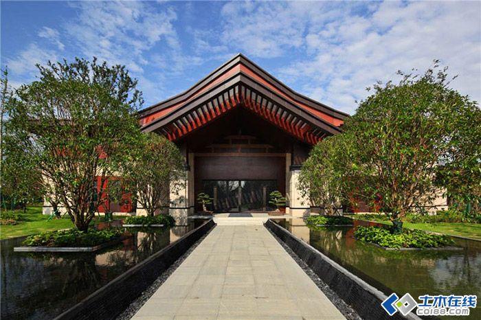 昆山首创青旅岛尚的中式景观设计