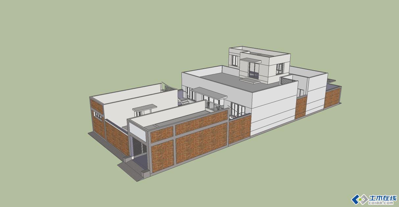 现代中式三合院——几年前做的一个自建房设计图片http://bbsfile.