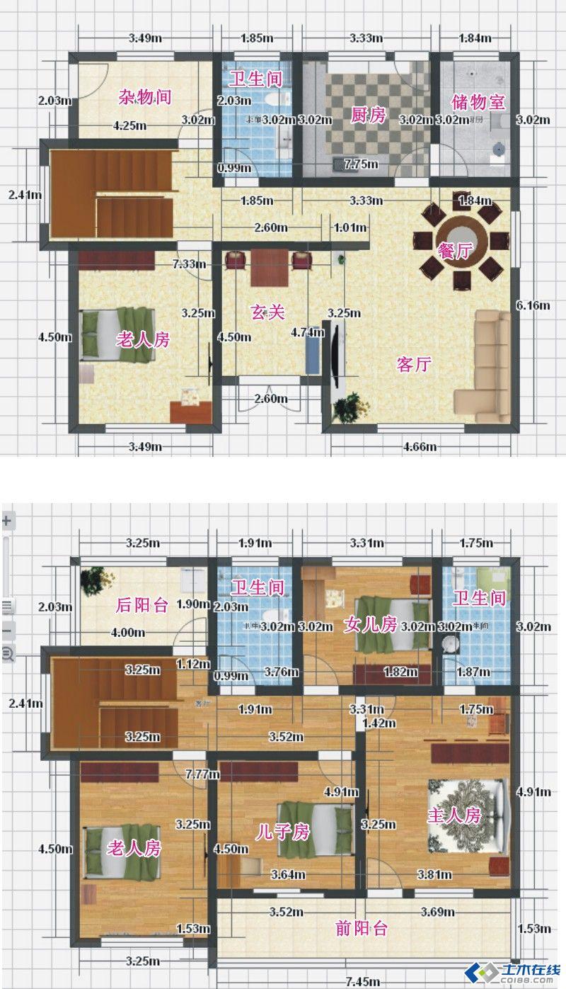 90平米农村自建房设计