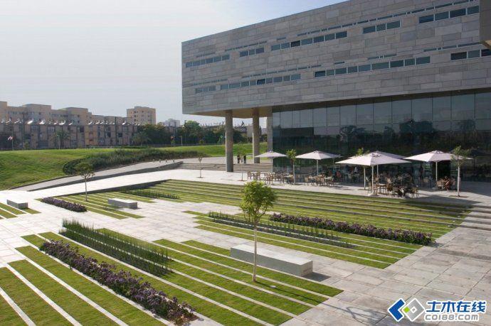 【园林主编】bgu大学校园入口广场景观设计图片http