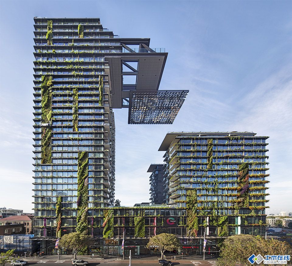 """【国外建筑设计】★★悉尼新的""""世界之最""""-垂直绿化公寓★★澳大利"""