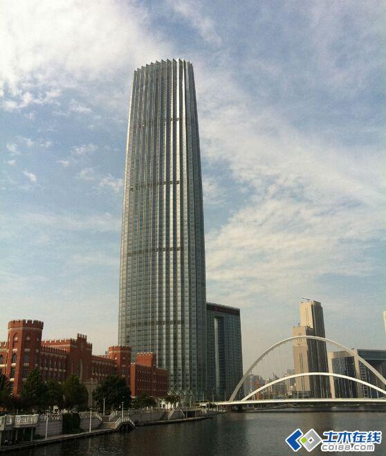 天津最高的建筑(图1) ,也将成为世界上高度最高的钢板剪力墙结