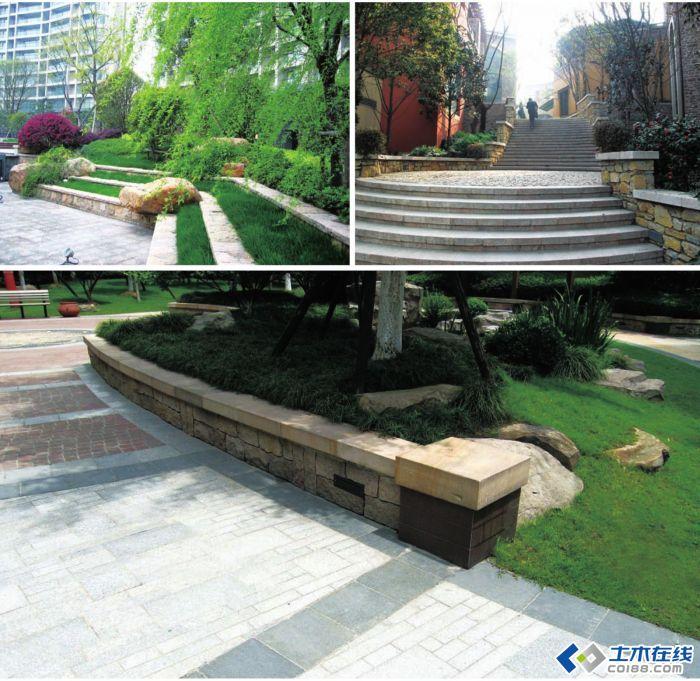 常用园林景观施工图6花池花坛 园林景观设施施工图座椅围墙花池等