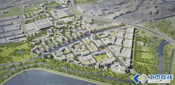 伦敦子午线水域城市滨水空间景观总体规划设计图片