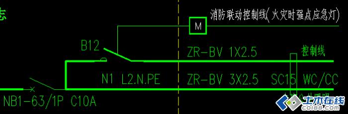请教一个强制点亮应急照明的接线问题图片http://bbs