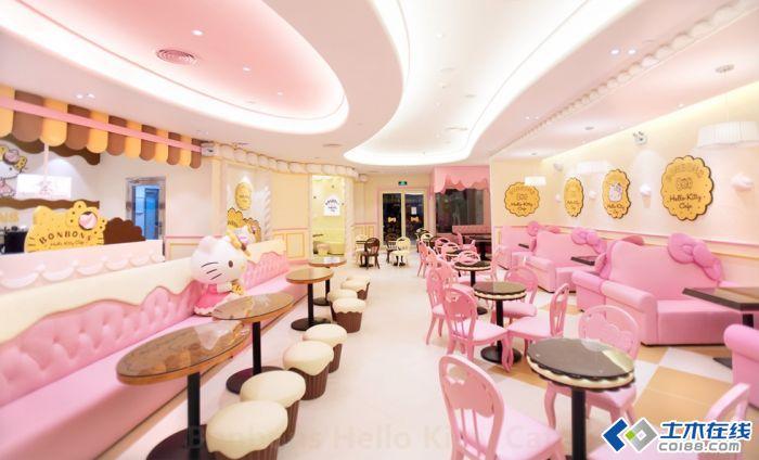 珠海Hello Kitty主题餐厅别具一格装修设计 高清图