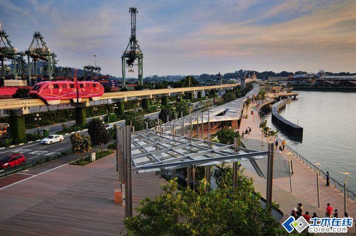 新加坡圣淘沙滨水步行道景观设计