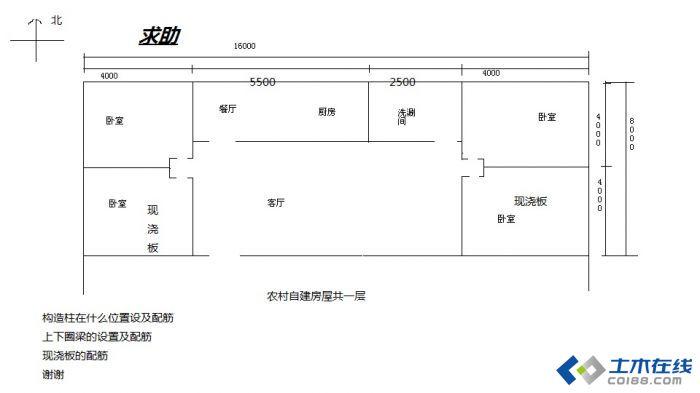 求农村自建房图纸 家在一偏远山村,欲建一2层半小楼房,面积80平米/层