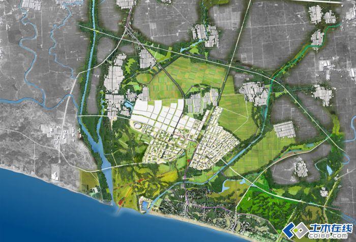 新区景观总体规划        北戴河新区浴场沙滩宽阔,潮汐平稳,海水清澈